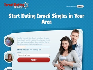 Israel Dating Service Homepage Image